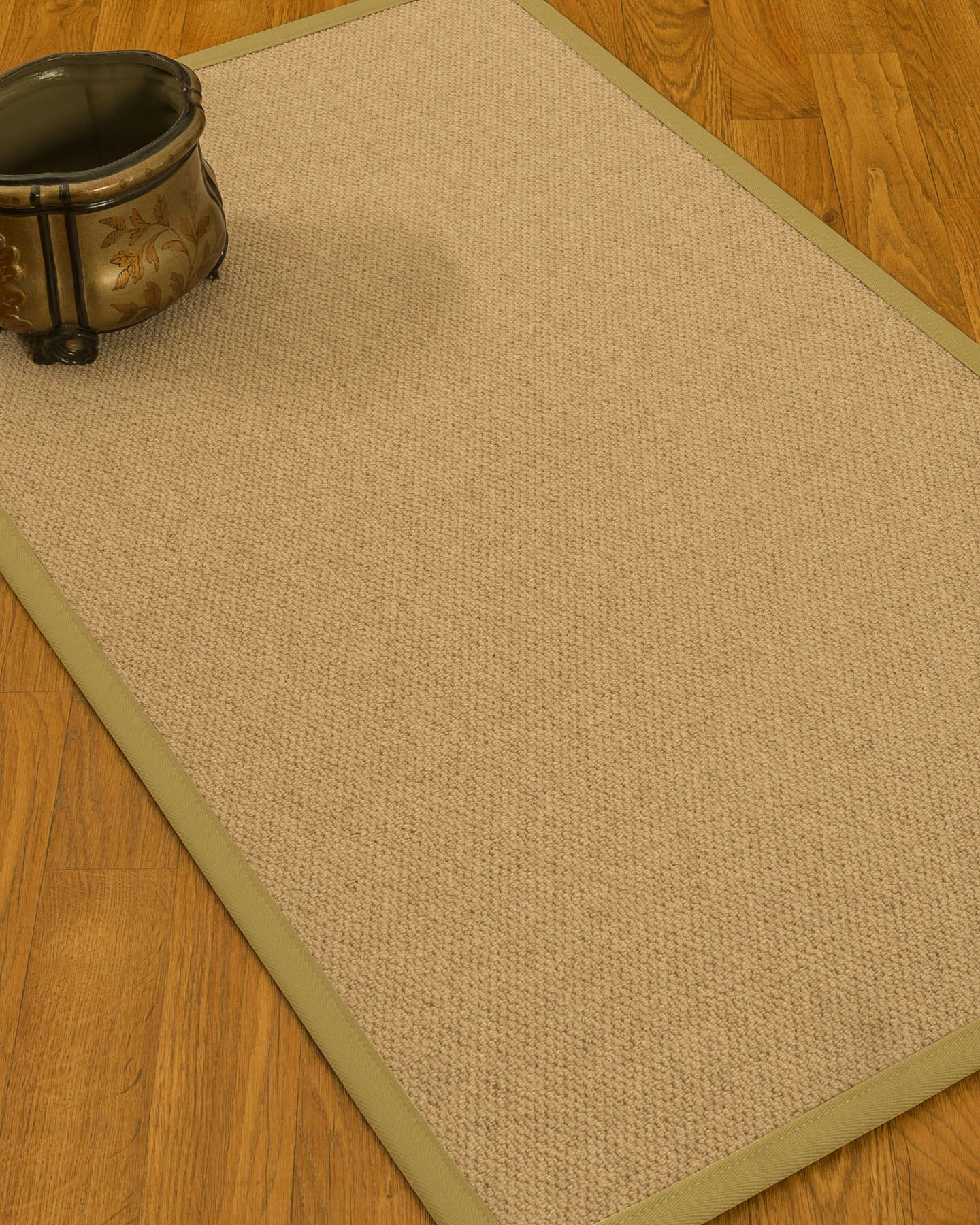 Chavira Border Hand-Woven Wool Beige/Khaki Area Rug Rug Pad Included: No, Rug Size: Rectangle 3' x 5'