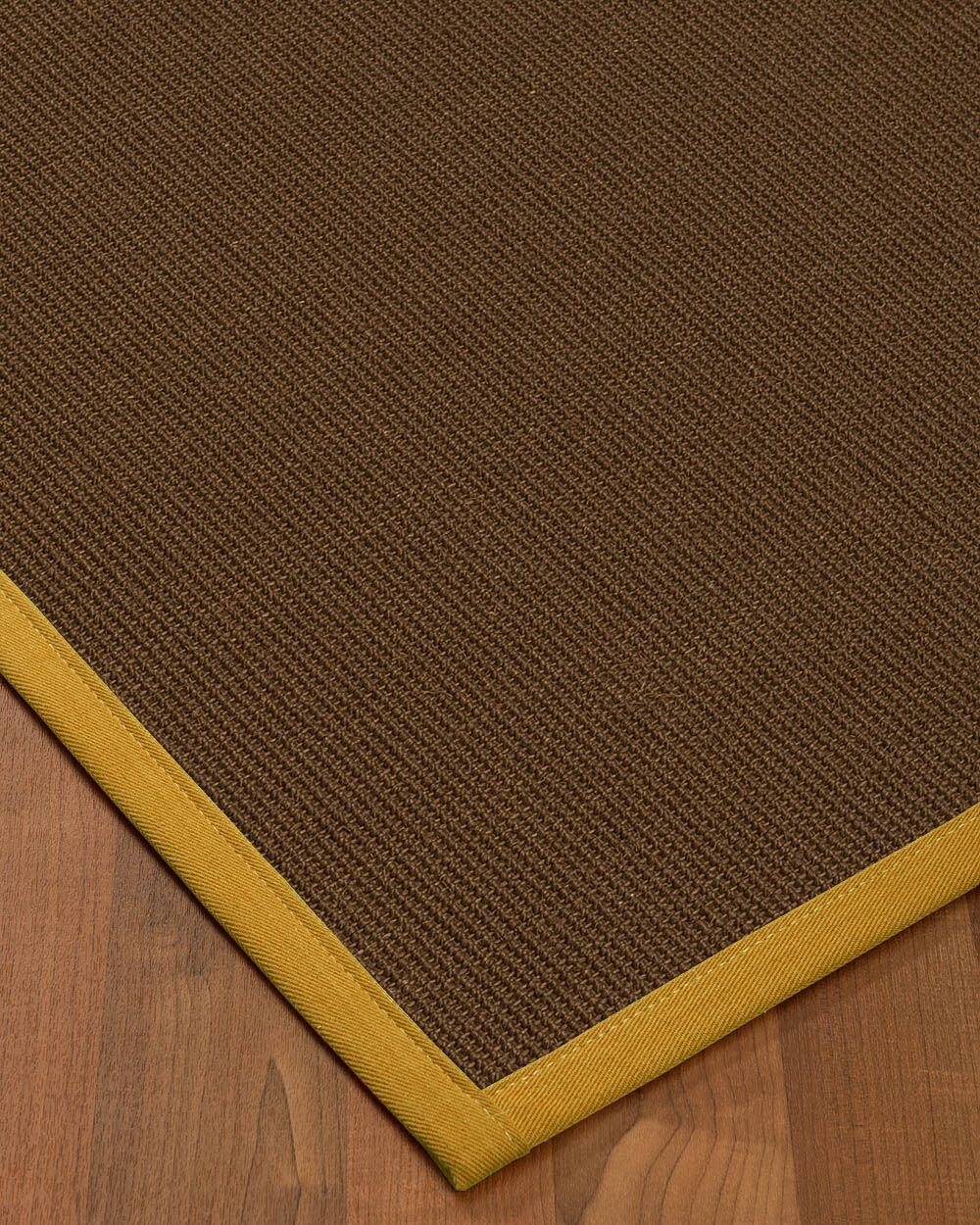 Heider Border Hand-Woven Brown/Tan Area Rug Rug Size: Rectangle 8' x 10', Rug Pad Included: Yes