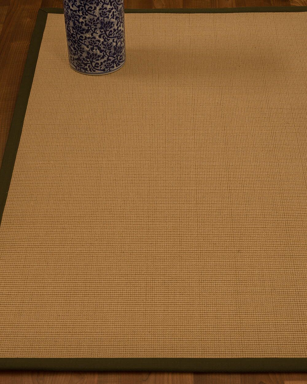 Magruder Border Hand-Woven Wool Beige/Malt Area Rug Rug Size: Rectangle 5' x 8', Rug Pad Included: Yes