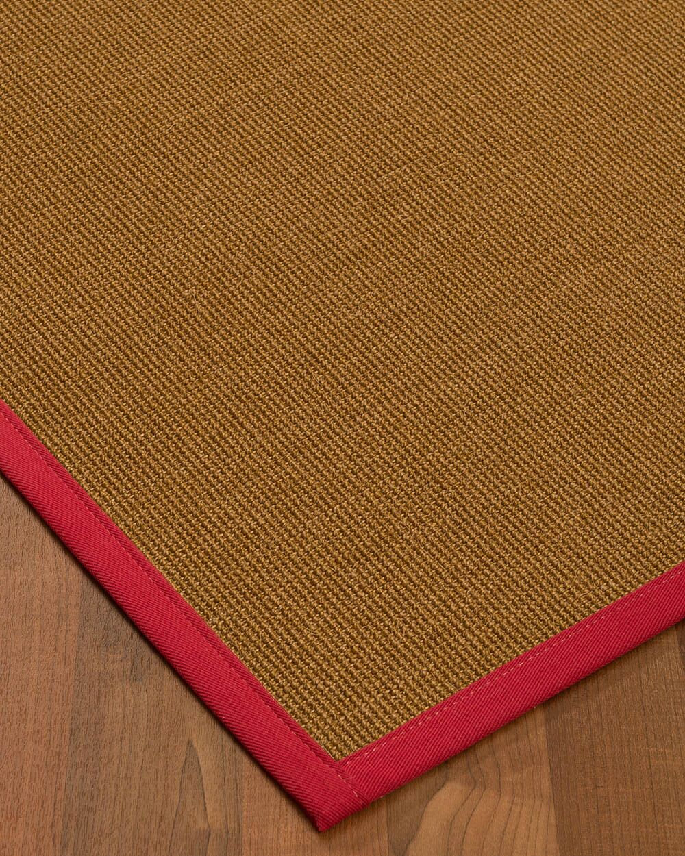 Antonina Border Hand-Woven Brown/Red Area Rug Rug Size: Rectangle 8' x 10', Rug Pad Included: Yes