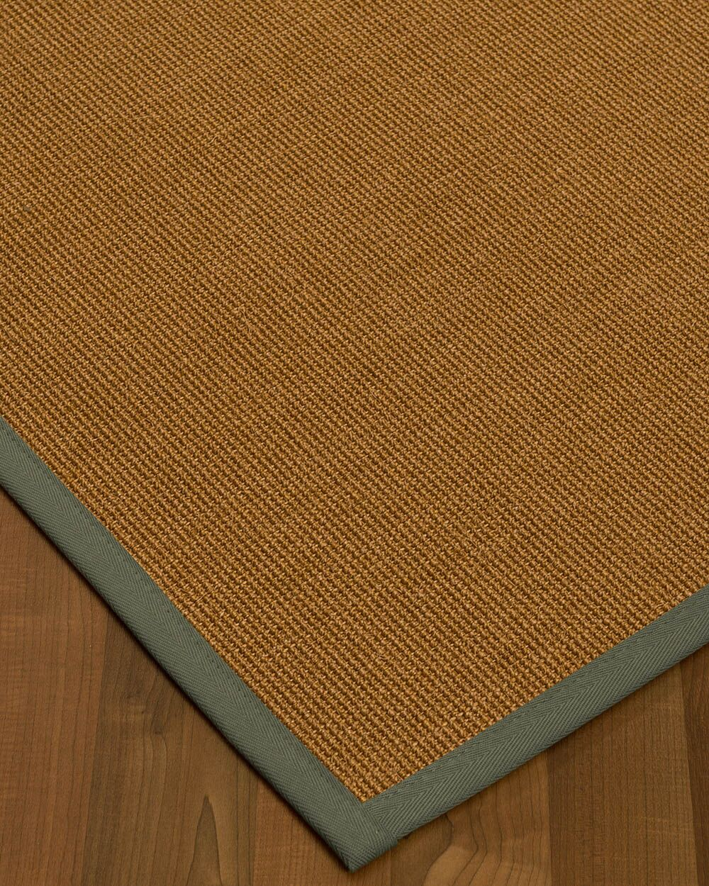 Antonina Border Hand-Woven Brown/Stone Area Rug Rug Size: Rectangle 8' x 10', Rug Pad Included: Yes