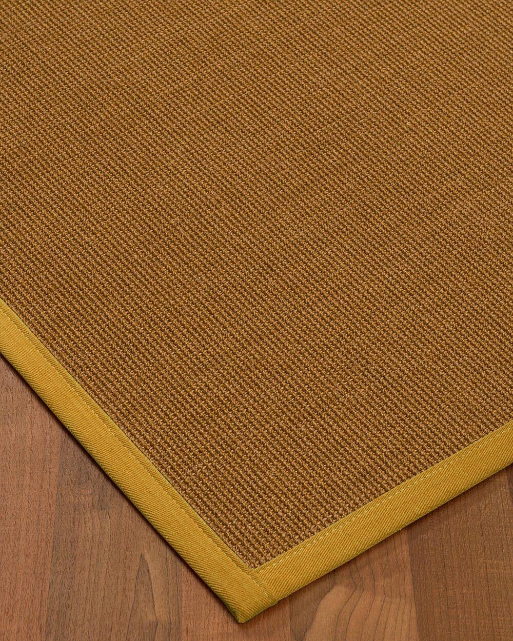 Antonina Border Hand-Woven Brown/Tan Area Rug Rug Size: Rectangle 12' x 15', Rug Pad Included: Yes