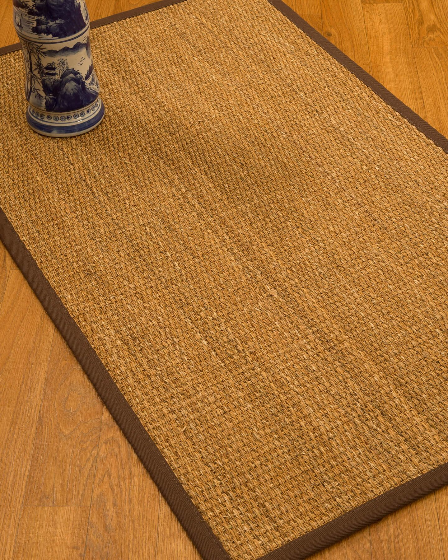 Kimberwood Border Hand-Woven Brown/Dark Brown Area Rug Rug Pad Included: No, Rug Size: Rectangle 3' x 5'