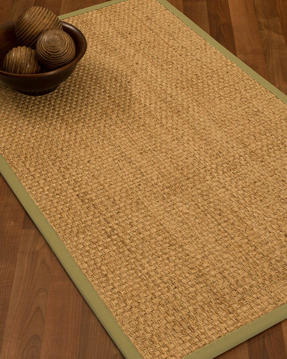 Caster Border Hand-Woven Beige/Khaki Area Rug Rug Size: Rectangle 12' x 15', Rug Pad Included: Yes