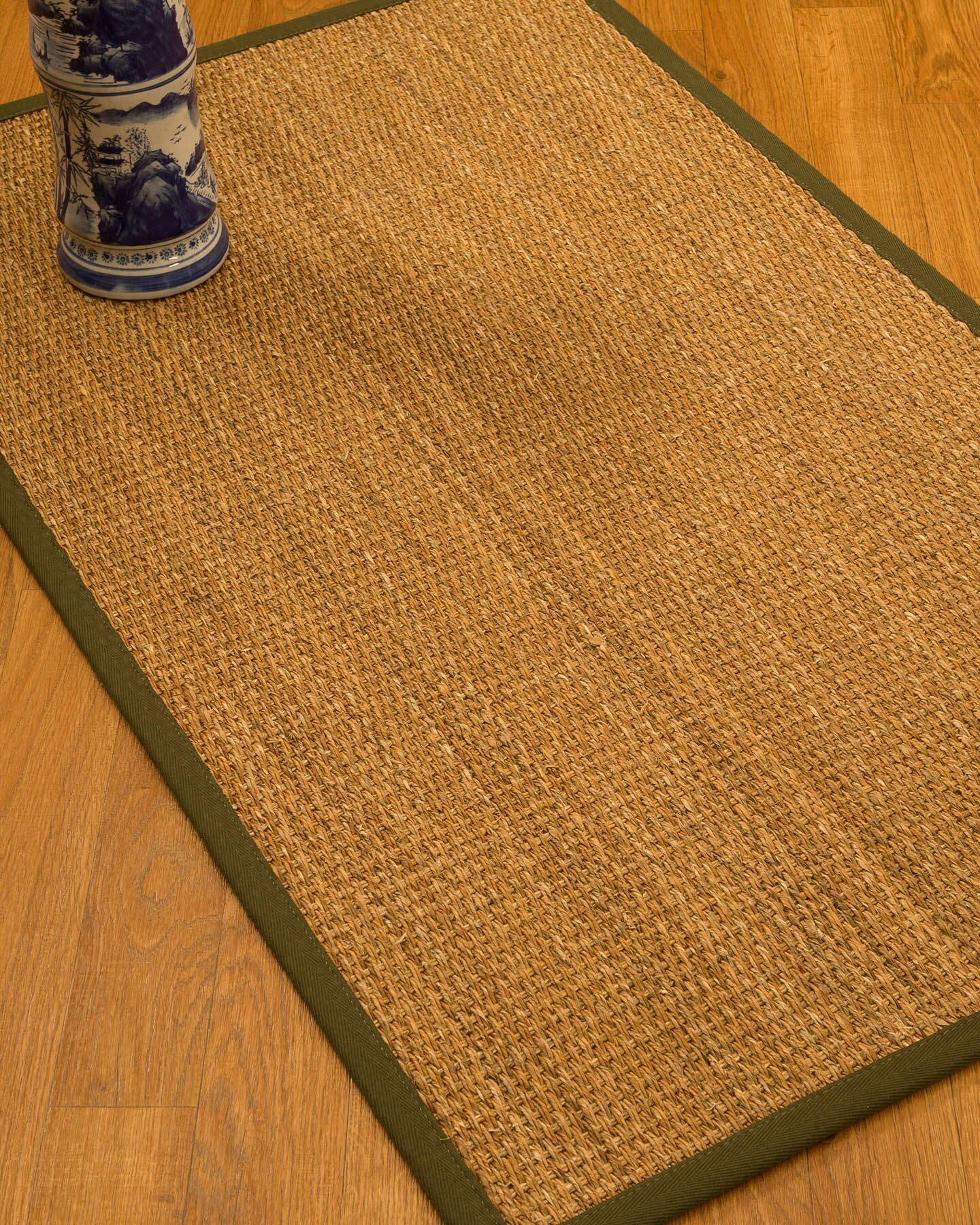 Kimberwood Border Hand-Woven Brown/Malt Area Rug Rug Size: Rectangle 4' x 6', Rug Pad Included: Yes