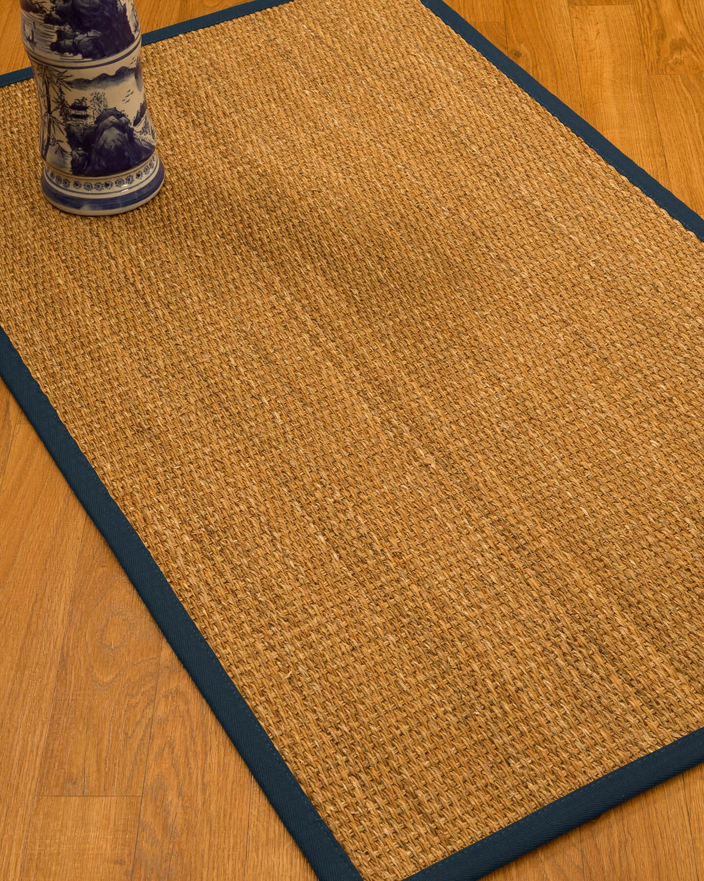 Kimberwood Border Hand-Woven Brown/Marine Area Rug Rug Size: Rectangle 5' x 8', Rug Pad Included: Yes