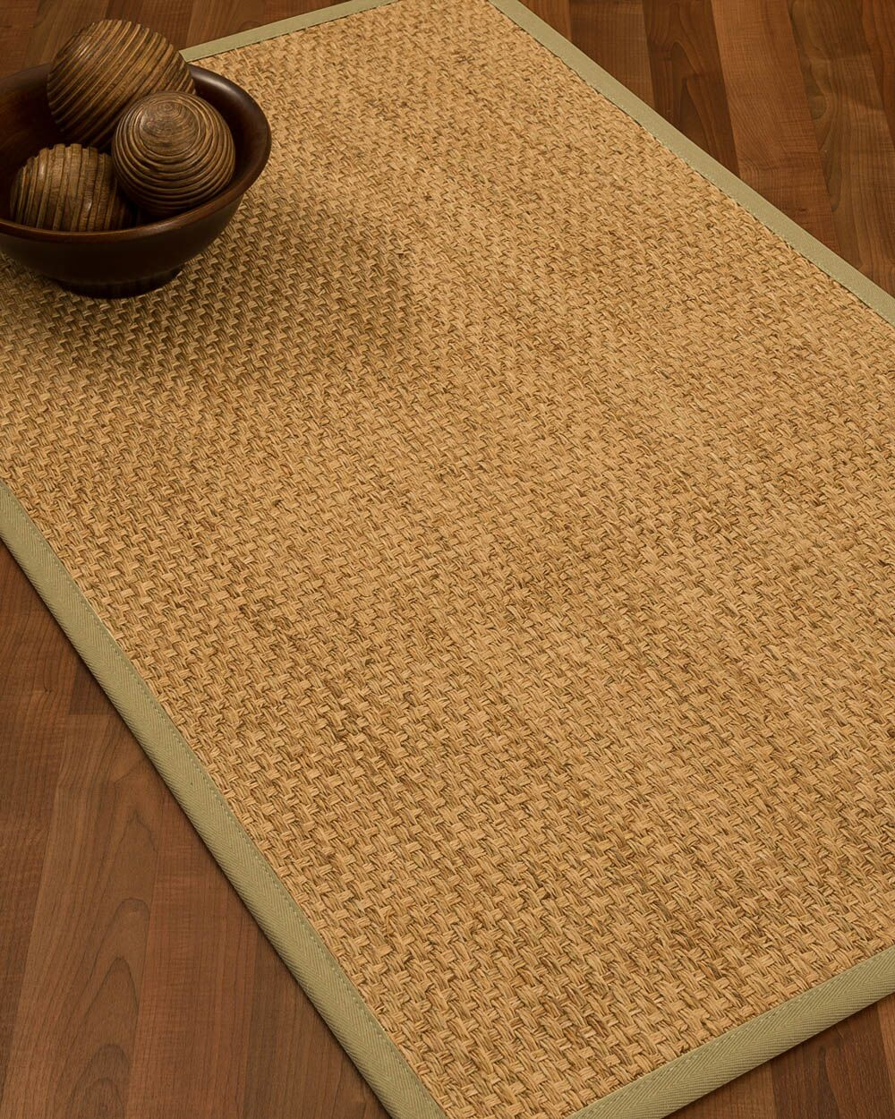 Caster Border Hand-Woven Beige/Sand Area Rug Rug Size: Rectangle 6' x 9', Rug Pad Included: Yes