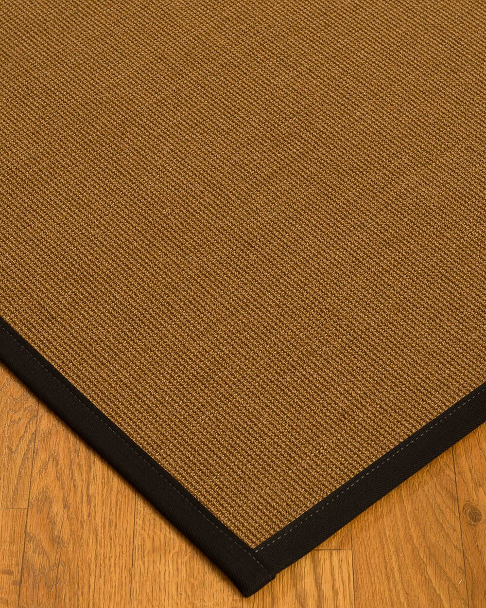 Antonina Border Hand-Woven Brown/Black Area Rug Rug Size: Rectangle 12' x 15', Rug Pad Included: Yes