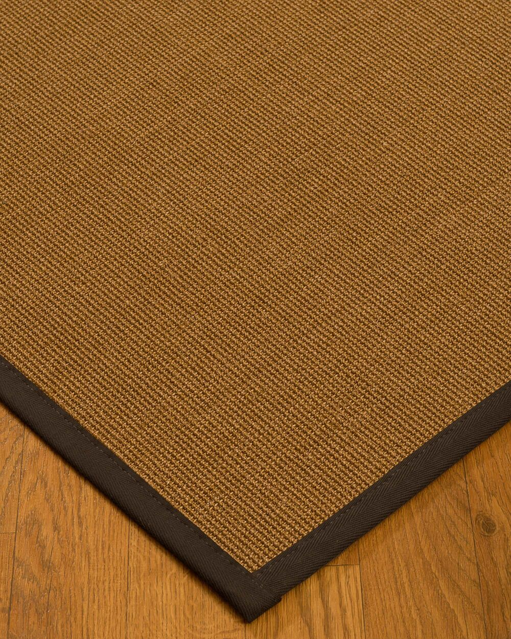 Antonina Border Hand-Woven Brown/Fudge Area Rug Rug Pad Included: No, Rug Size: Runner 2'6