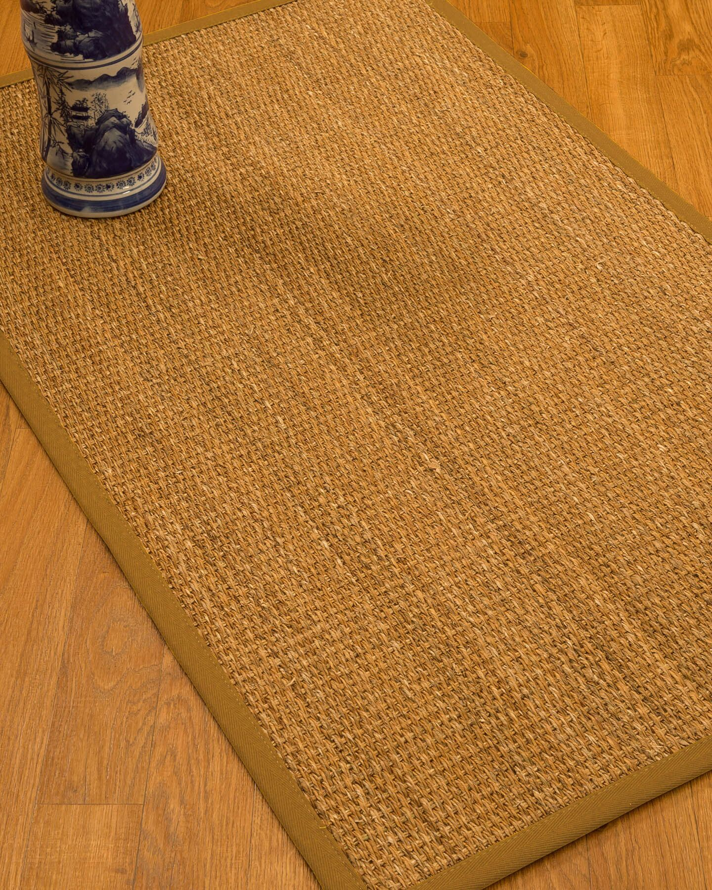 Kimberwood Border Hand-Woven Brown/Sienna Area Rug Rug Size: Rectangle 8' x 10', Rug Pad Included: Yes