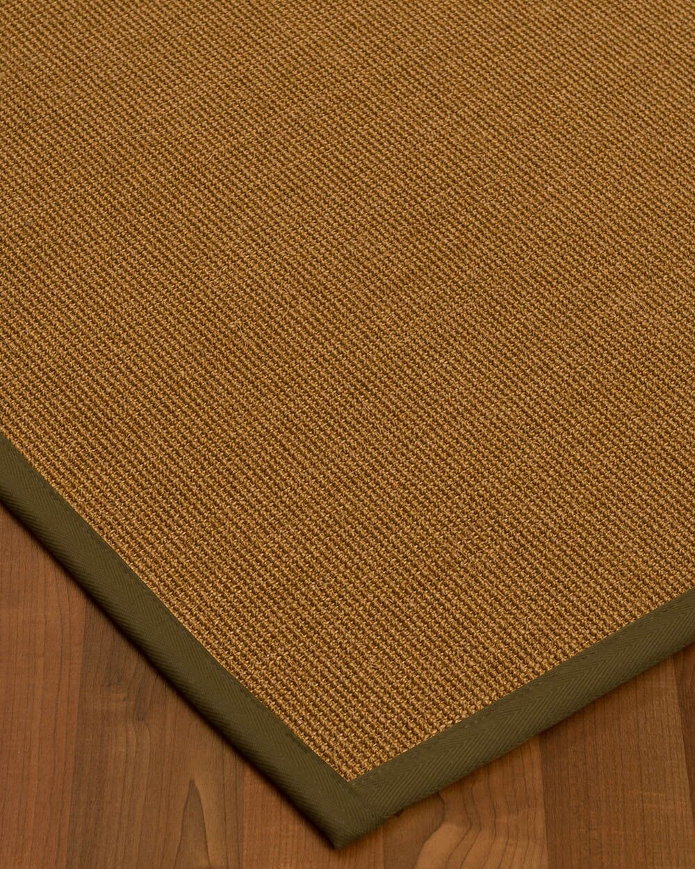 Antonina Border Hand-Woven Brown/Malt Area Rug Rug Size: Rectangle 4' x 6', Rug Pad Included: Yes