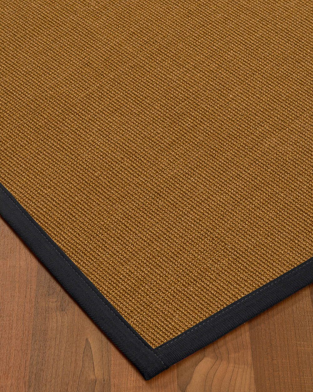 Antonina Border Hand-Woven Brown/Midnight Blue Area Rug Rug Size: Rectangle 8' x 10', Rug Pad Included: Yes