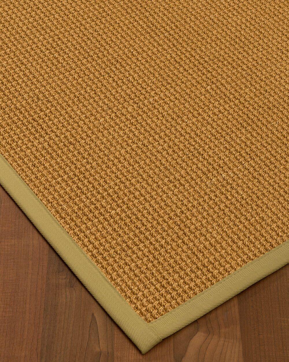 Aula Border Hand-Woven Brown/Sand Area Rug Rug Pad Included: No, Rug Size: Rectangle 3' x 5'