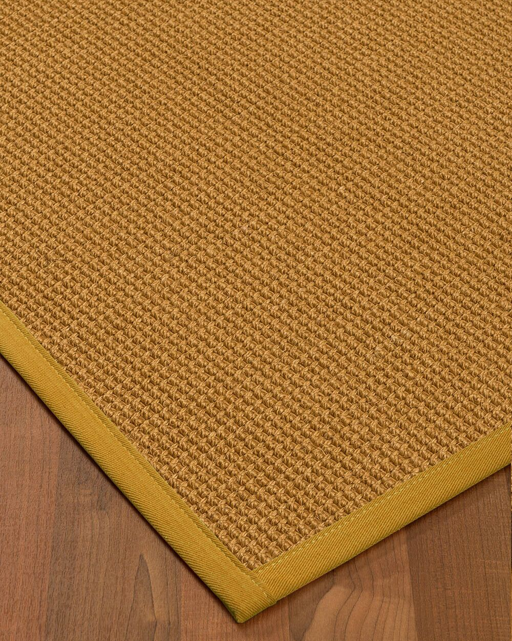 Aula Border Hand-Woven Brown/Tan Area Rug Rug Size: Rectangle 5' x 8', Rug Pad Included: Yes