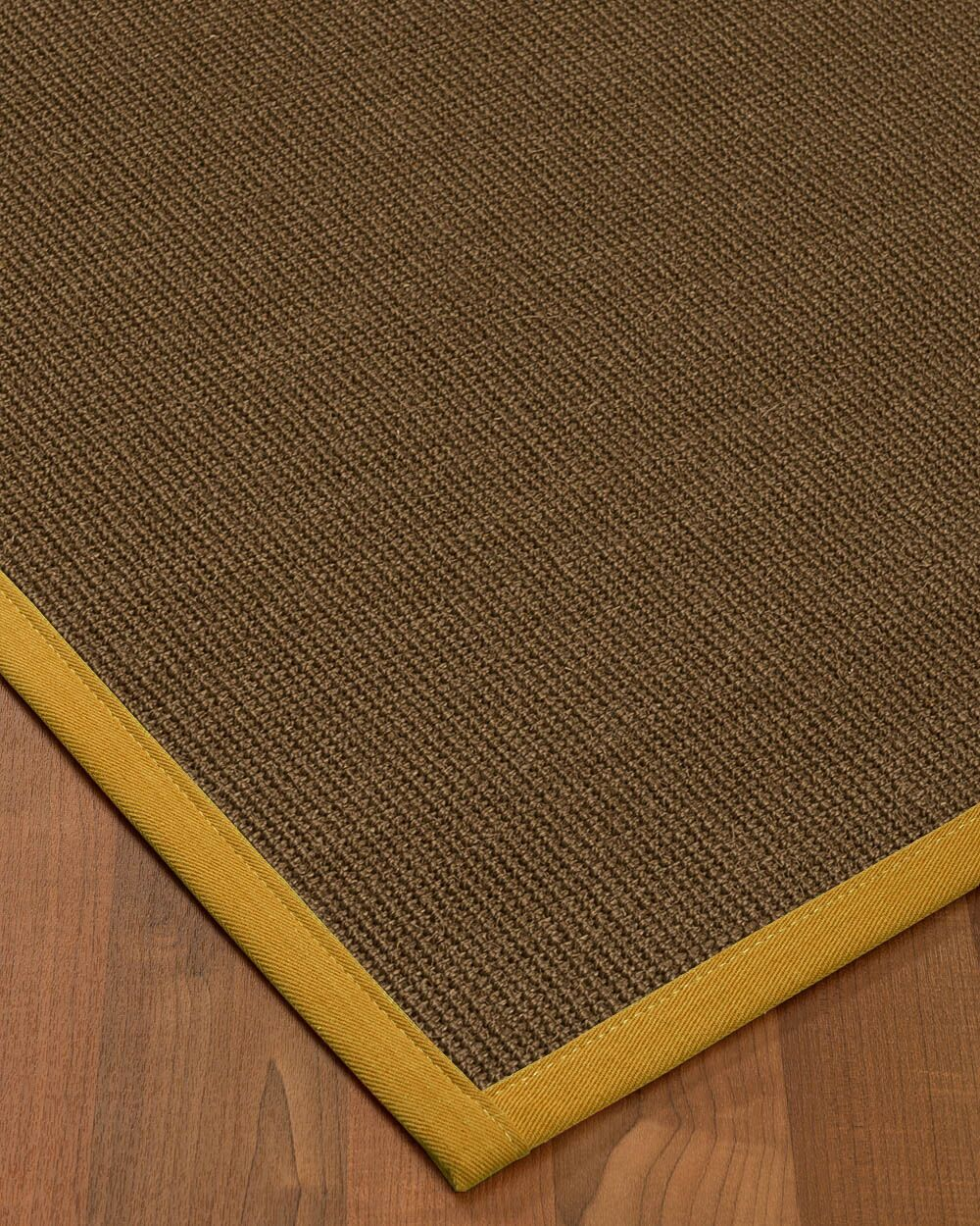 Kerner Border Hand-Woven Brown/Tan Area Rug Rug Pad Included: No, Rug Size: Runner 2'6