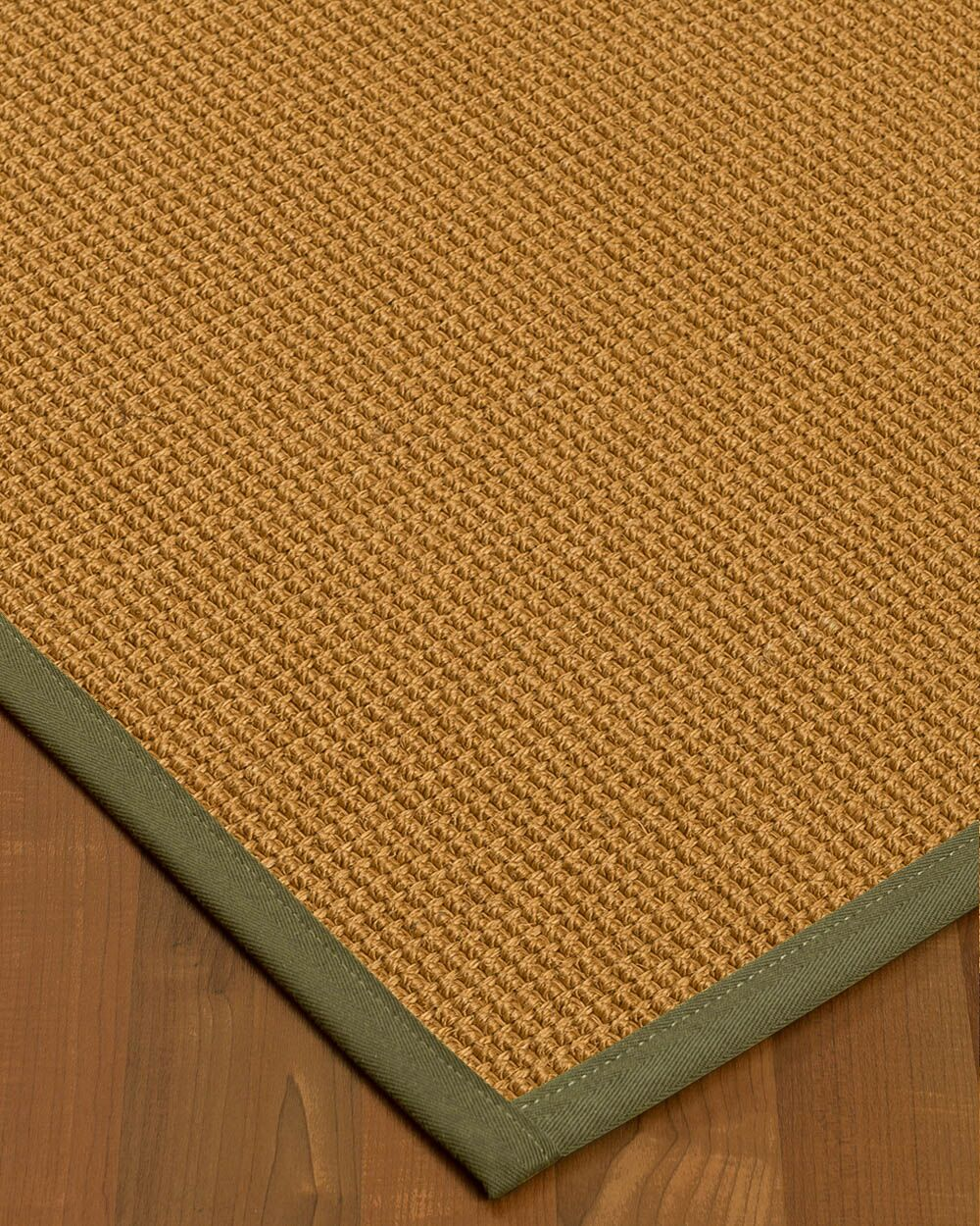 Aula Border Hand-Woven Brown/Fossil Area Rug Rug Size: Rectangle 6' x 9', Rug Pad Included: Yes