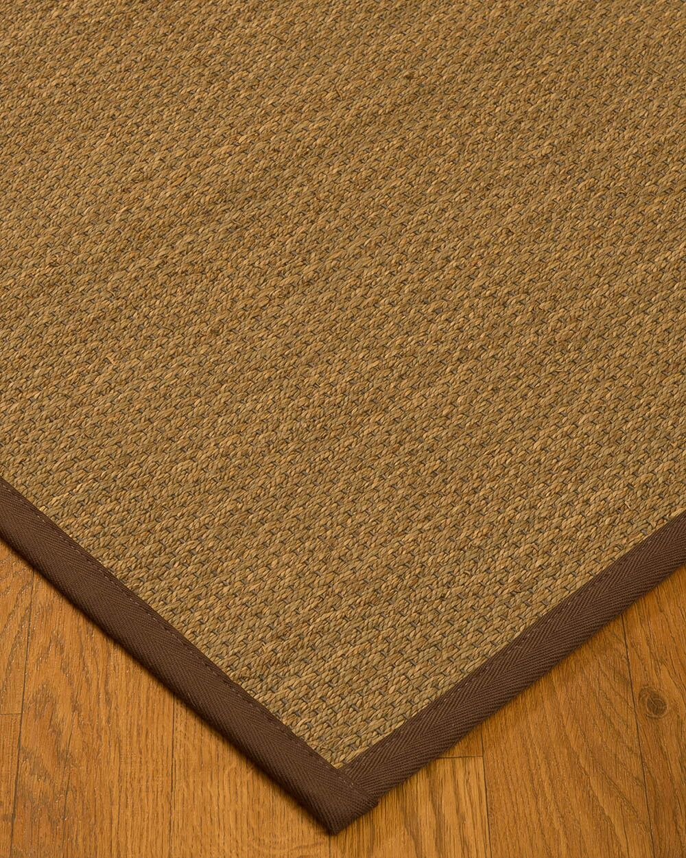 Chavis Border Hand-Woven Beige/Brown Area Rug Rug Size: Rectangle 12' x 15', Rug Pad Included: Yes