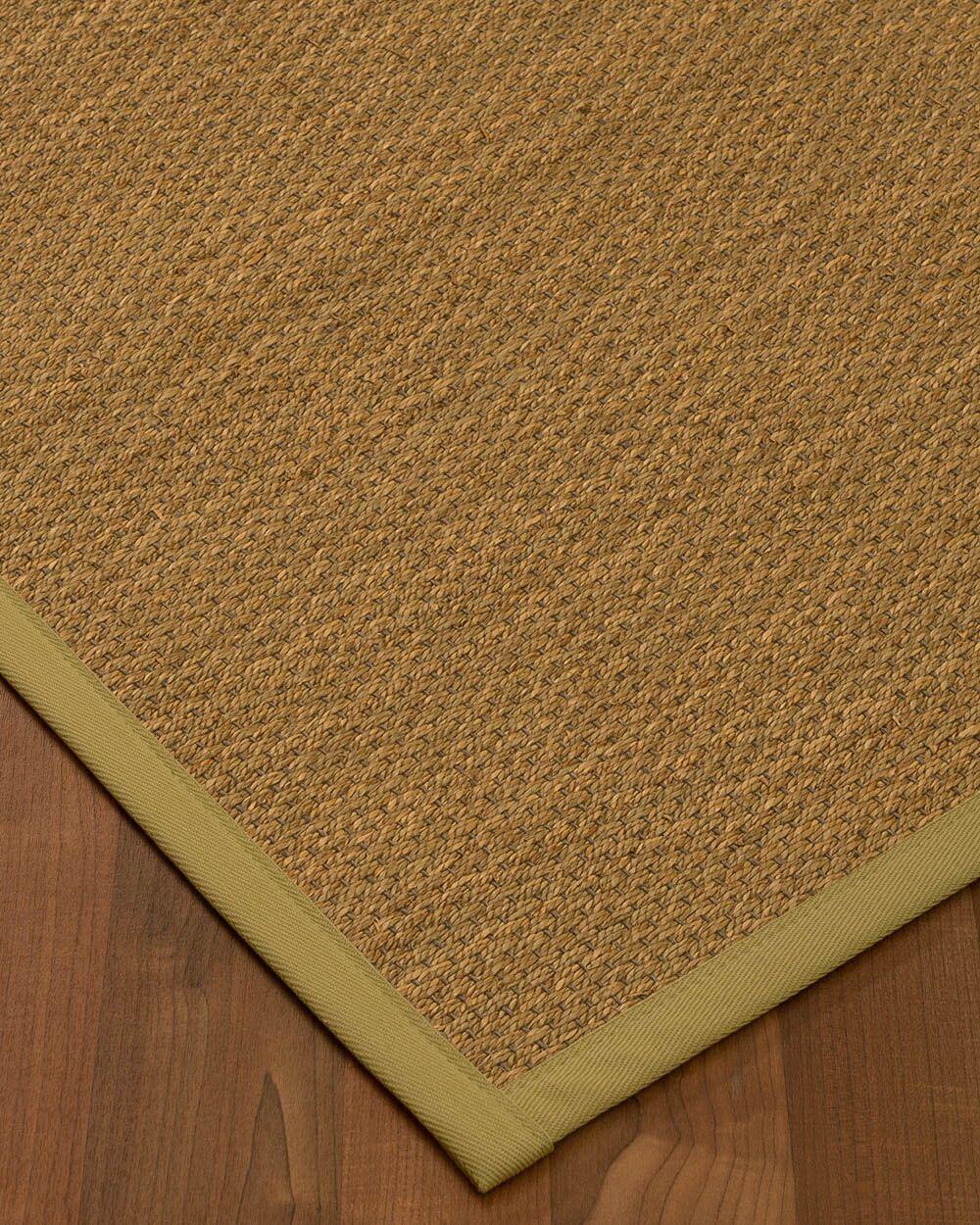 Chavis Border Hand-Woven Beige/Khaki Area Rug Rug Size: Rectangle 5' x 8', Rug Pad Included: Yes