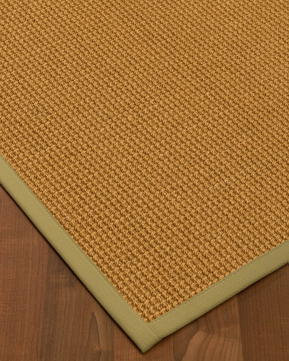 Aula Border Hand-Woven Brown/Natural Area Rug Rug Size: Rectangle 12' x 15', Rug Pad Included: Yes