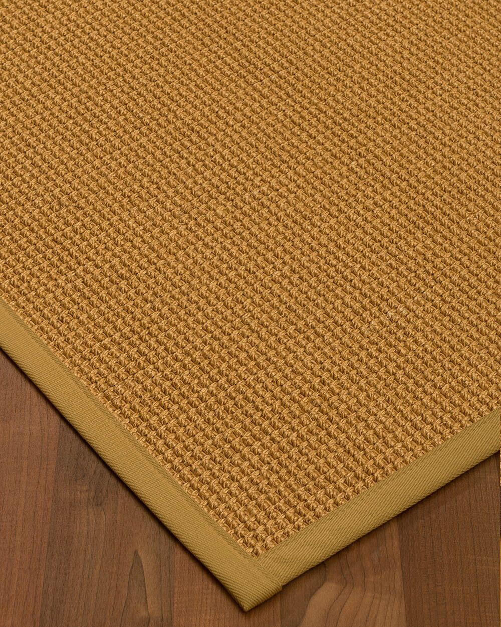 Aula Border Hand-Woven Brown Area Rug Rug Size: Rectangle 5' x 8', Rug Pad Included: Yes