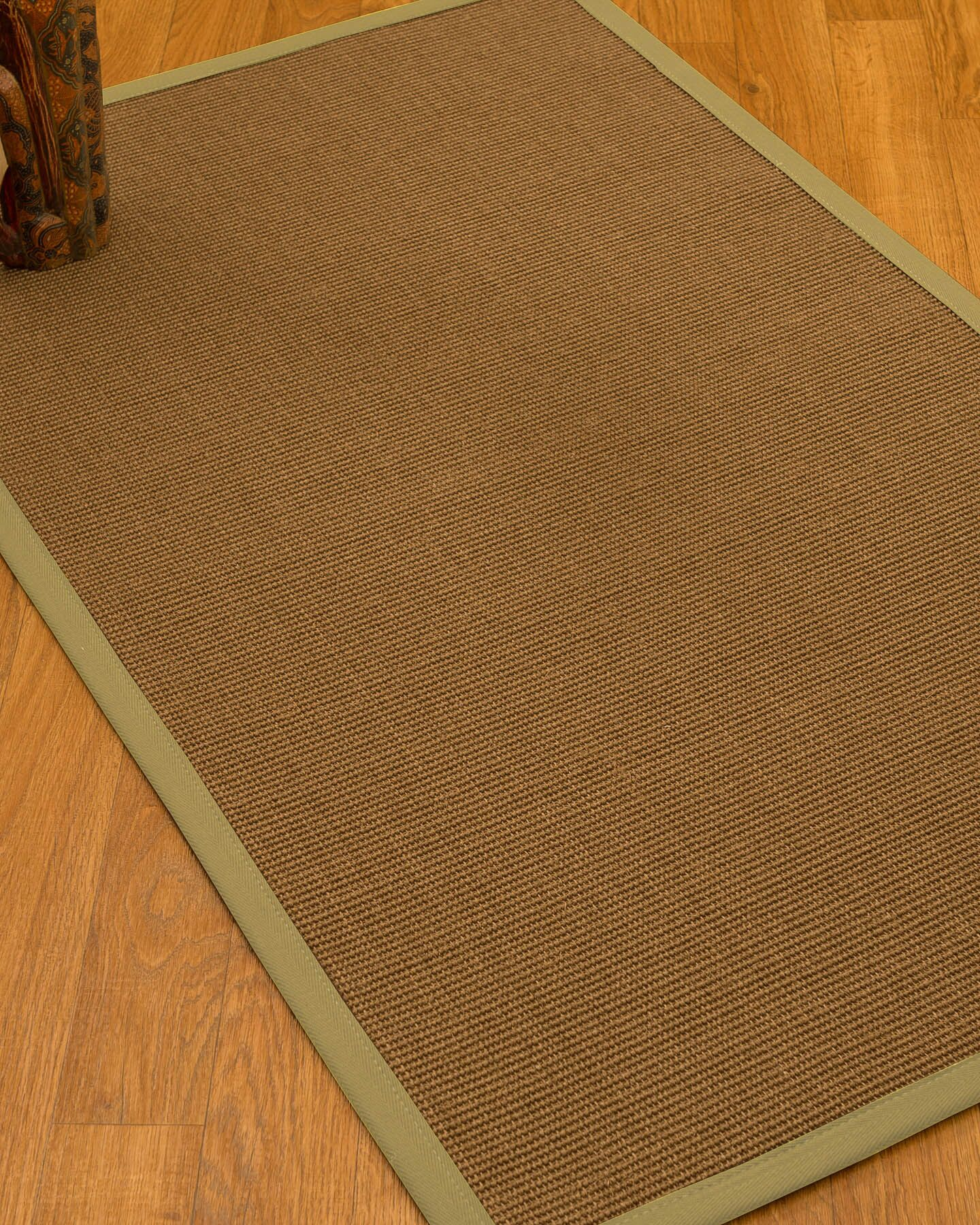 Huntwood Border Hand-Woven Brown/Sand Area Rug Rug Pad Included: No, Rug Size: Rectangle 3' x 5'