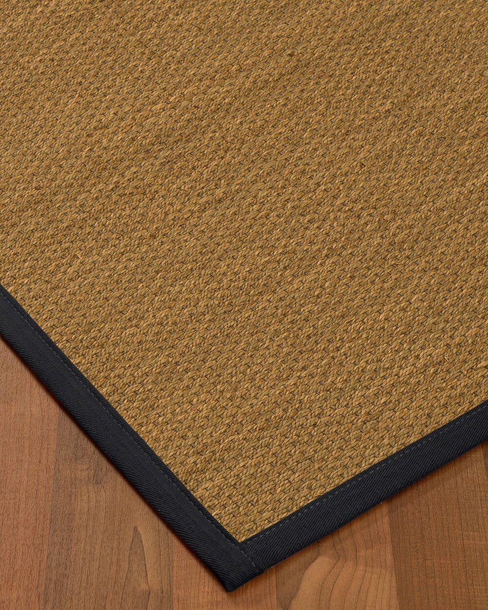 Chavis Border Hand-Woven Beige/Midnight Blue Area Rug Rug Size: Rectangle 9' x 12', Rug Pad Included: Yes