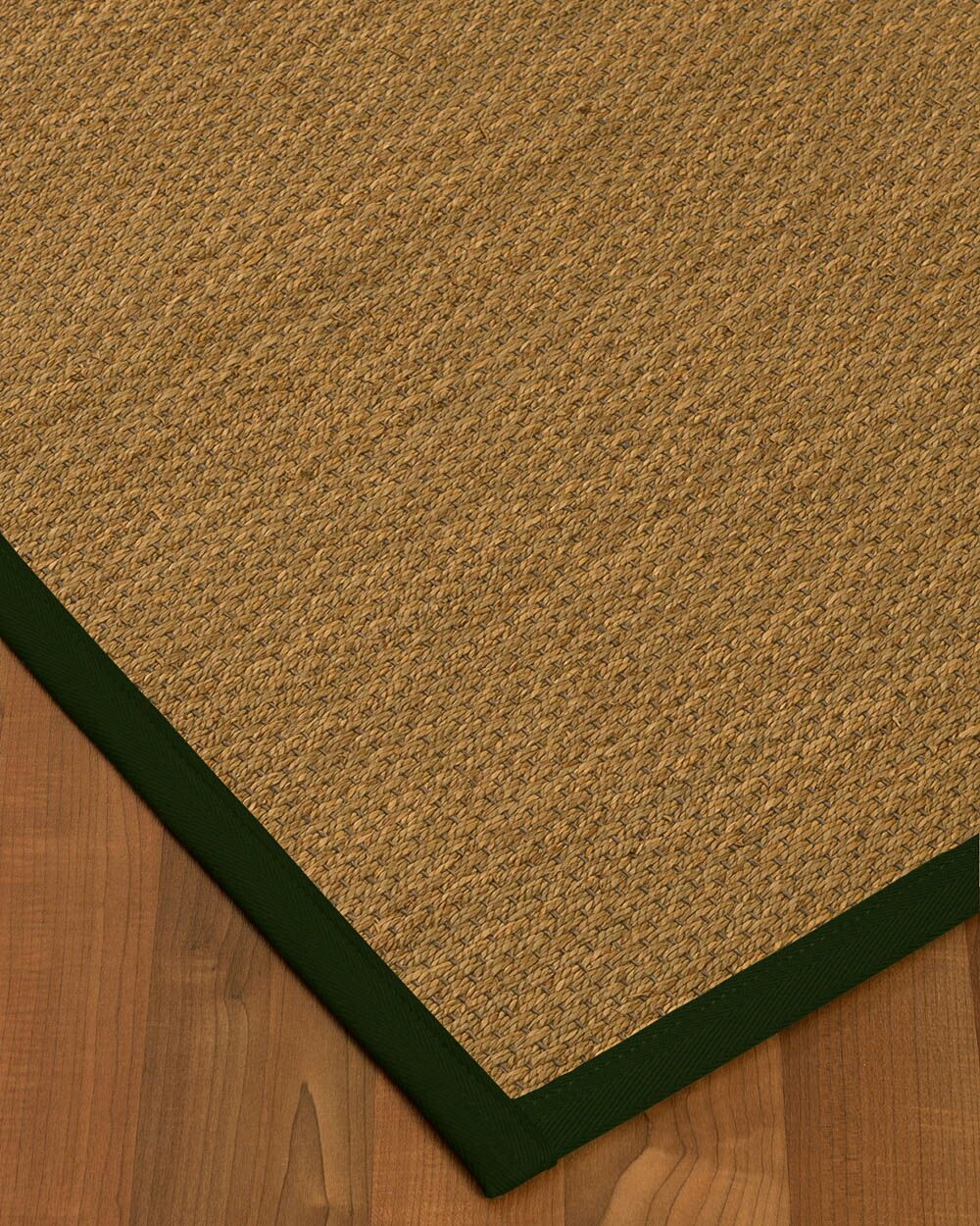 Chavis Border Hand-Woven Beige/Moss Area Rug Rug Size: Rectangle 9' x 12', Rug Pad Included: Yes