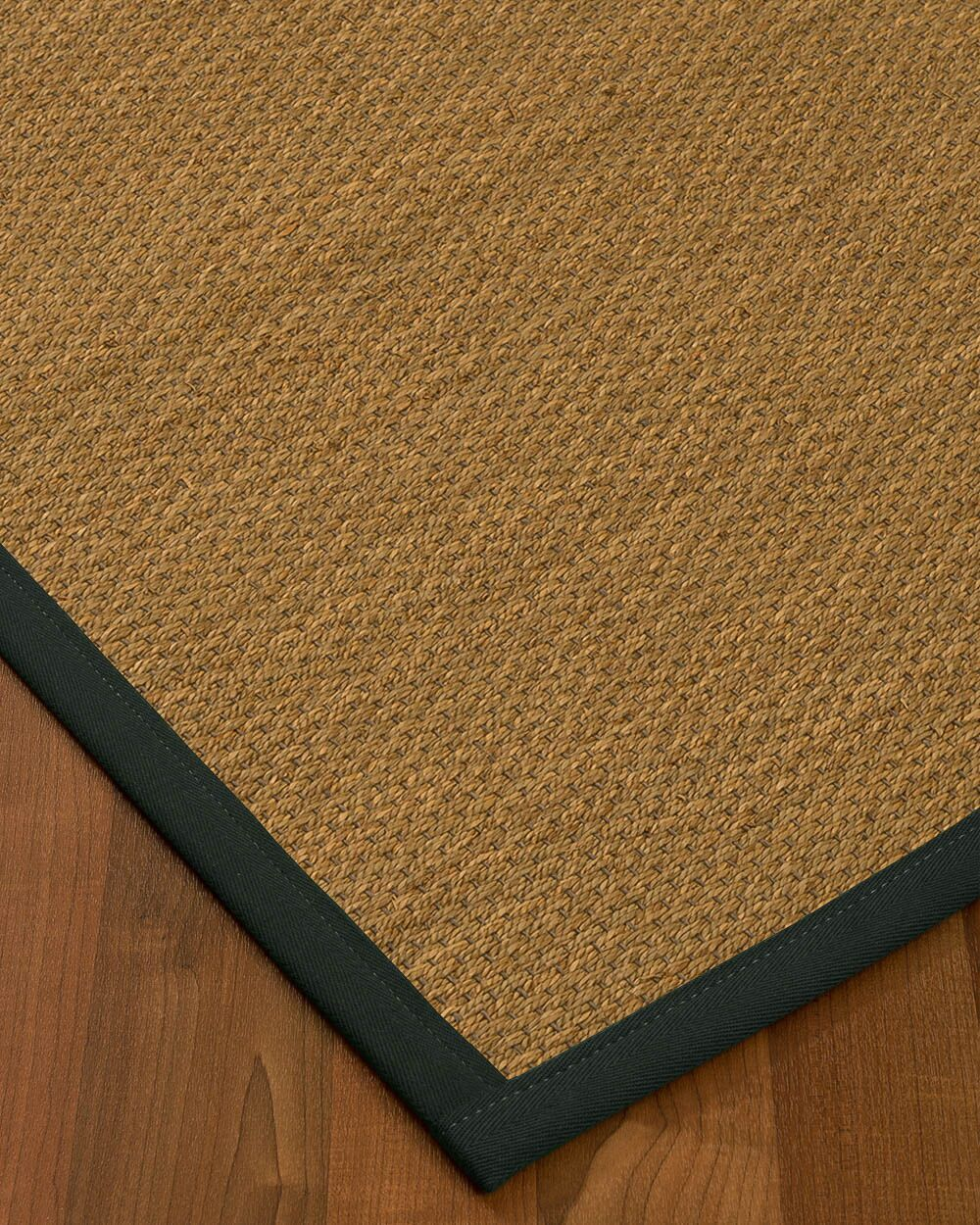 Chavis Border Hand-Woven Beige/Onyx Area Rug Rug Size: Rectangle 8' x 10', Rug Pad Included: Yes