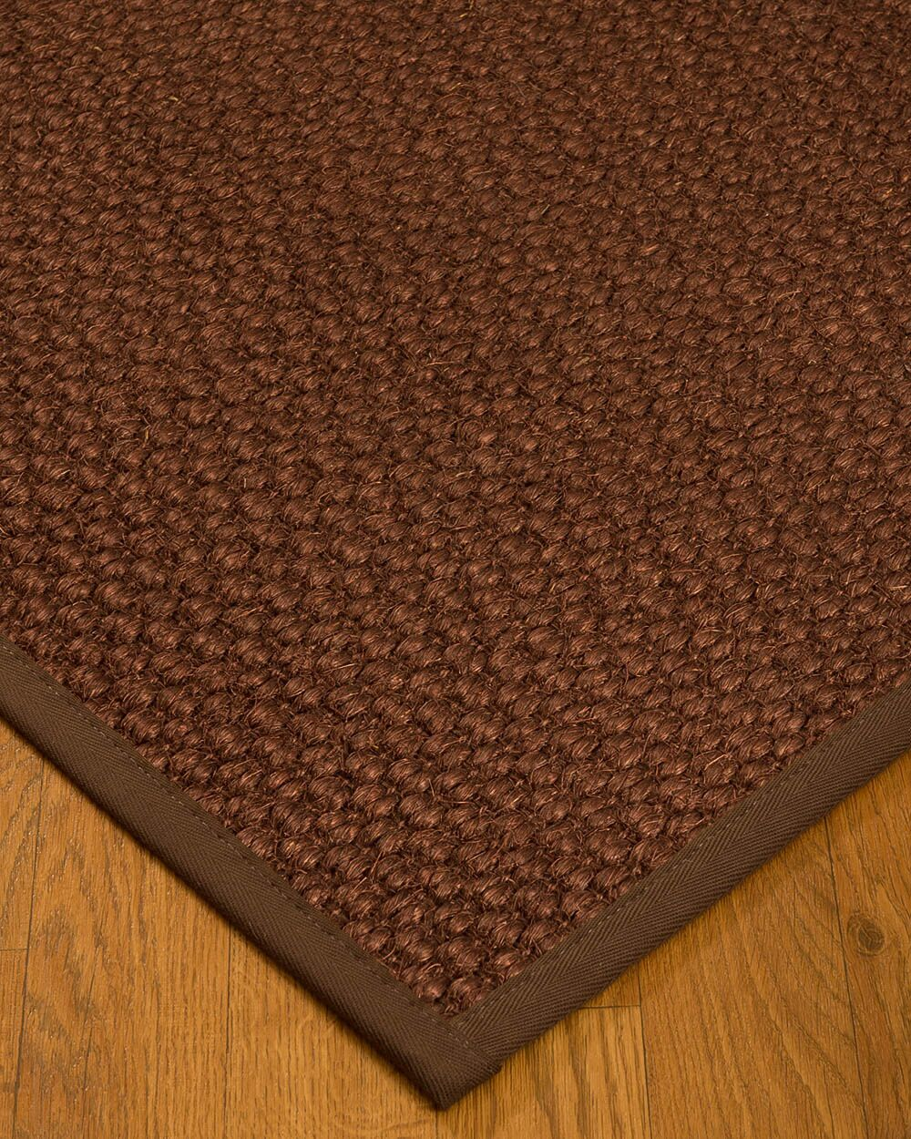 Kerrick Border Hand-Woven Brown Area Rug Rug Pad Included: No, Rug Size: Runner 2'6