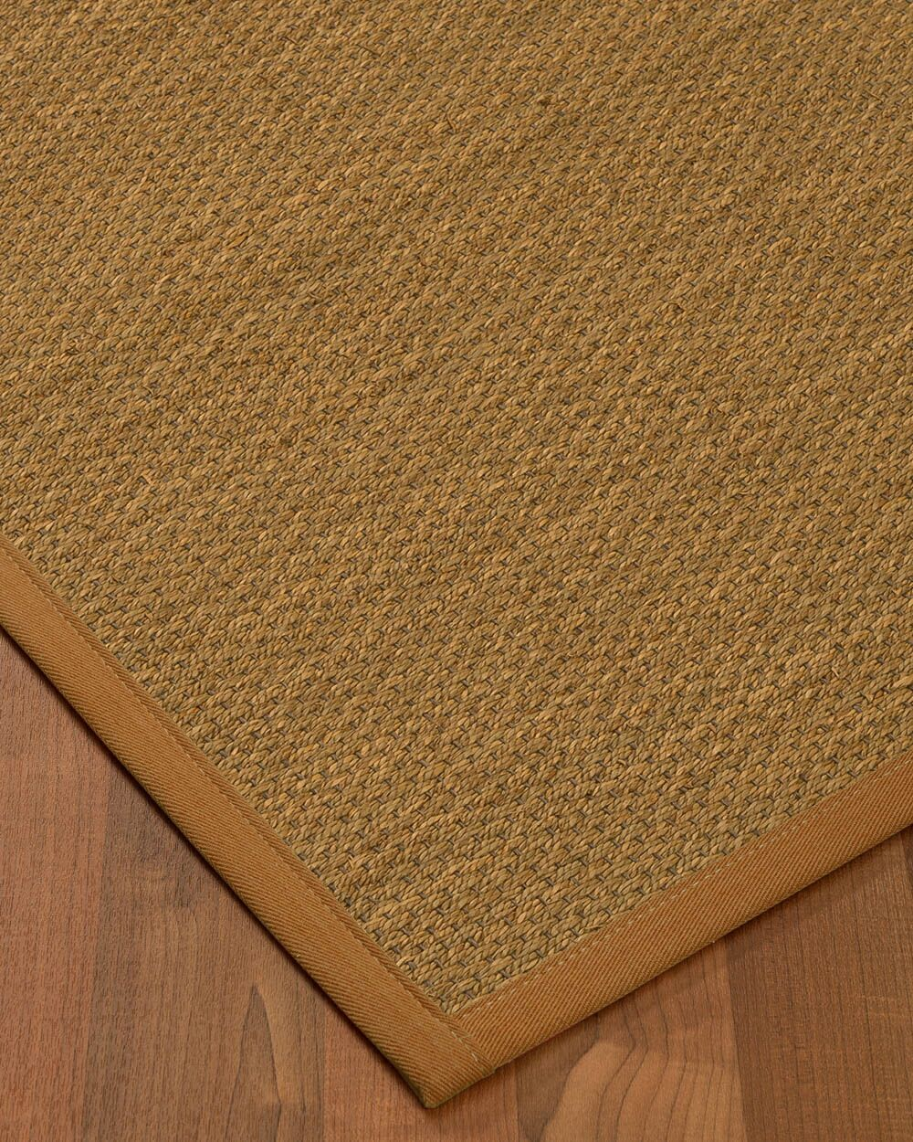 Kenny Border Hand-Woven Brown Area Rug Rug Pad Included: No, Rug Size: Rectangle 3' x 5'