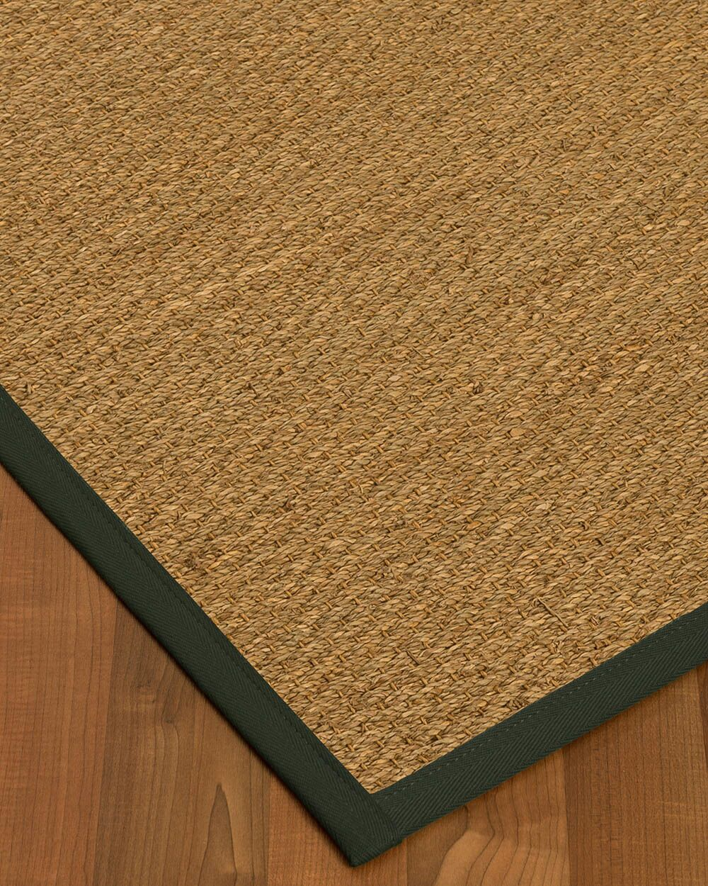 Kenton Border Hand-Woven Brown/Olive Area Rug Rug Size: Rectangle 4' x 6', Rug Pad Included: Yes