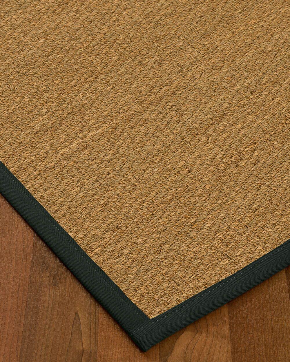 Anya Border Hand-Woven Beige/Onyx Area Rug Rug Pad Included: No, Rug Size: Rectangle 3' x 5'
