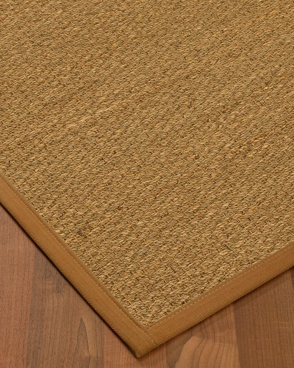 Anya Border Hand-Woven Beige/Sienna Area Rug Rug Size: Rectangle 4' x 6', Rug Pad Included: Yes