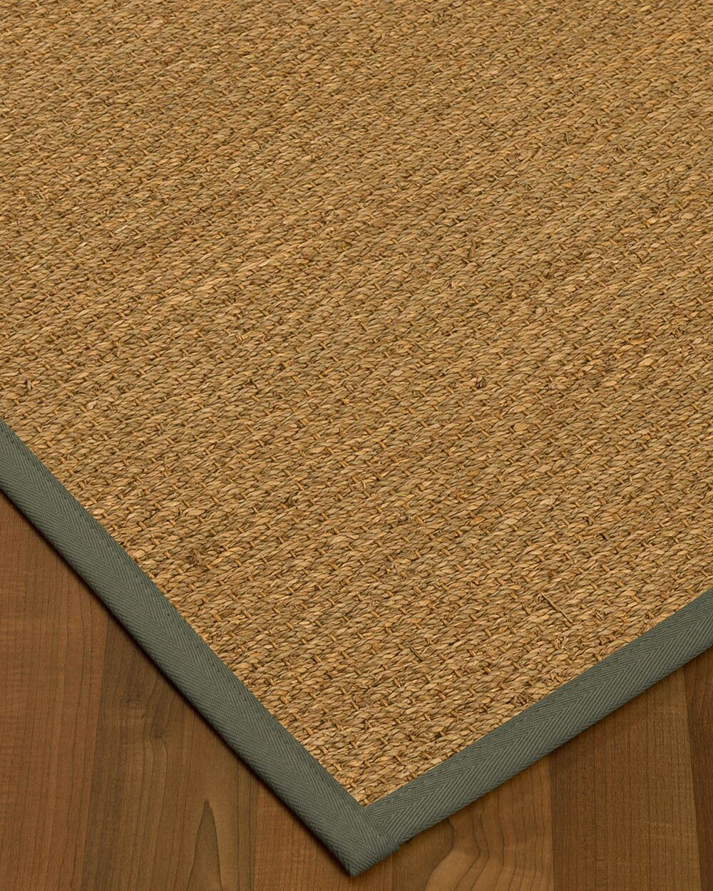 Anya Border Hand-Woven Beige/Stone Area Rug Rug Size: Rectangle 9' x 12', Rug Pad Included: Yes