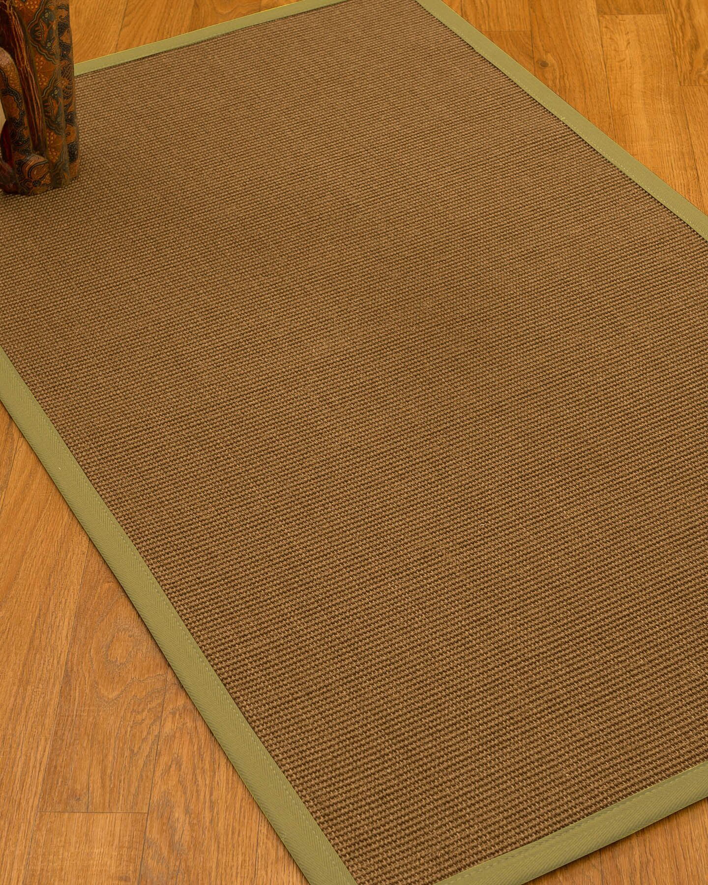 Huntwood Border Hand-Woven Brown/Olive Area Rug Rug Pad Included: No, Rug Size: Runner 2'6
