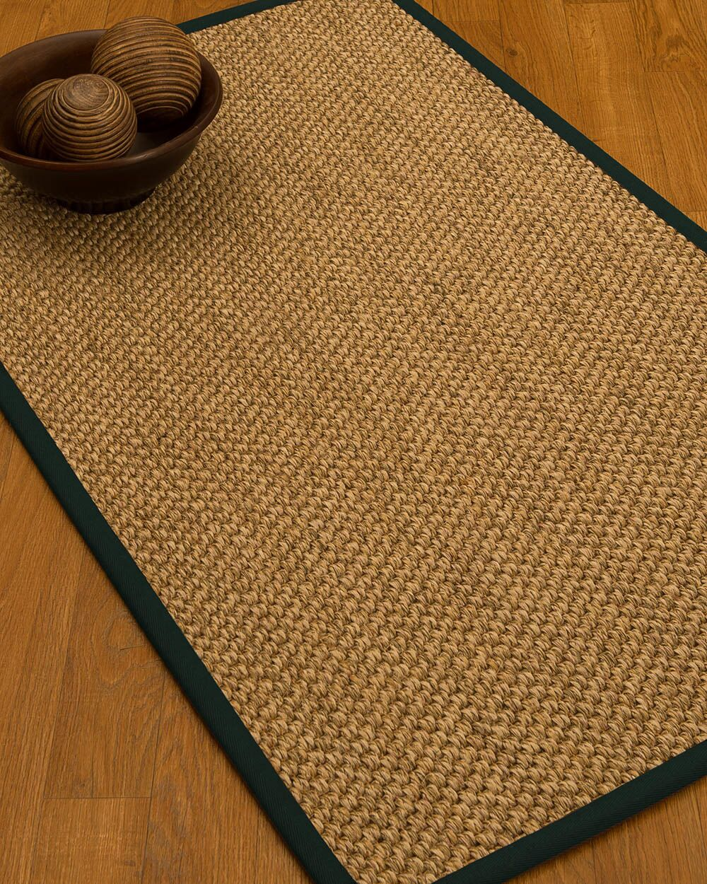 Heier Border Hand-Woven Brown/Metal Area Rug Rug Size: Rectangle 4' x 6', Rug Pad Included: Yes