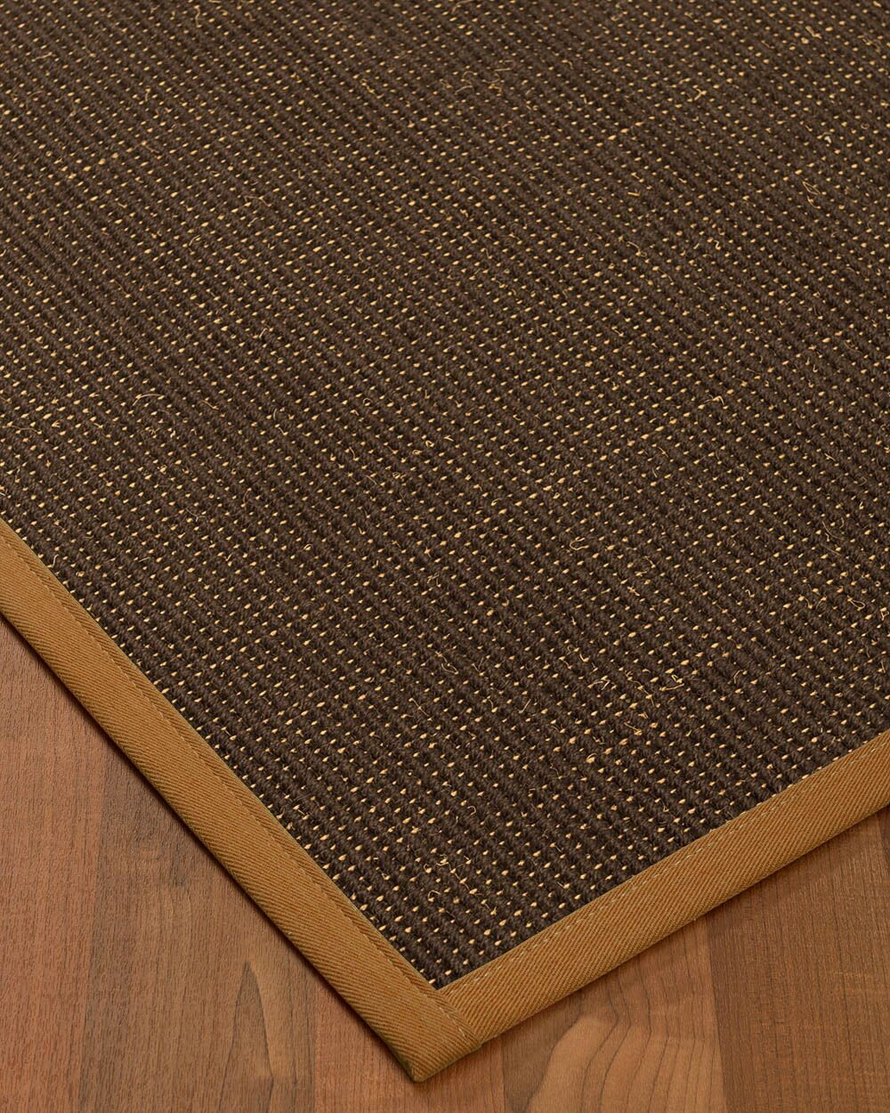 Kersh Border Hand-Woven Brown/Sienna Area Rug Rug Size: Rectangle 4' x 6', Rug Pad Included: Yes