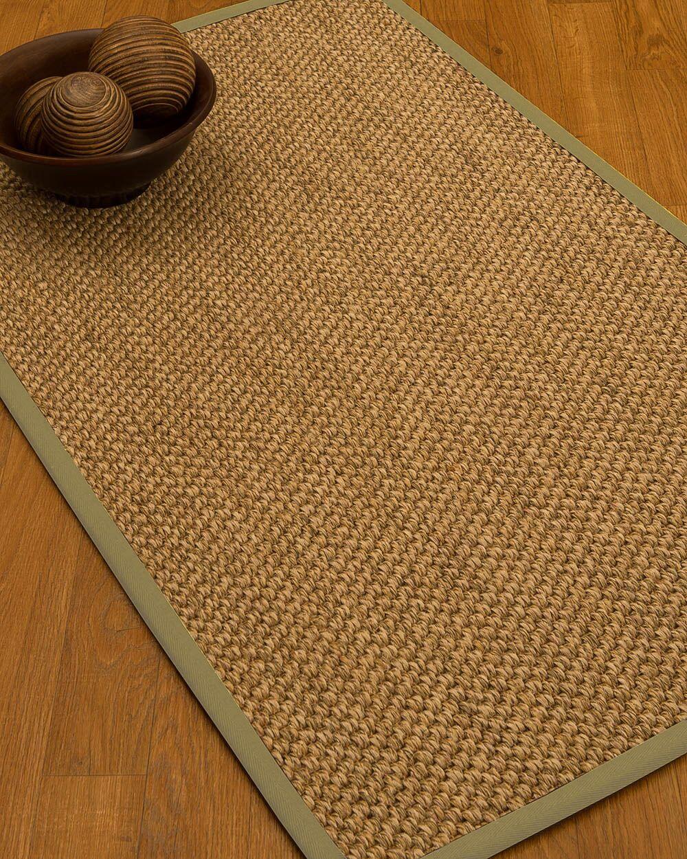 Heier Border Hand-Woven Brown/Sand Area Rug Rug Pad Included: No, Rug Size: Rectangle 3' x 5'