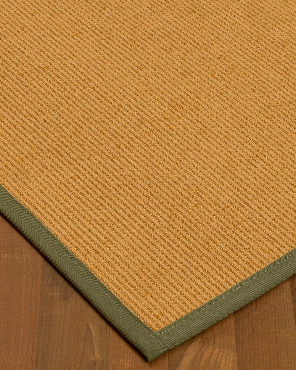 Vannatter Border Hand-Woven Beige/Green Area Rug Rug Size: Rectangle 5' x 8', Rug Pad Included: Yes