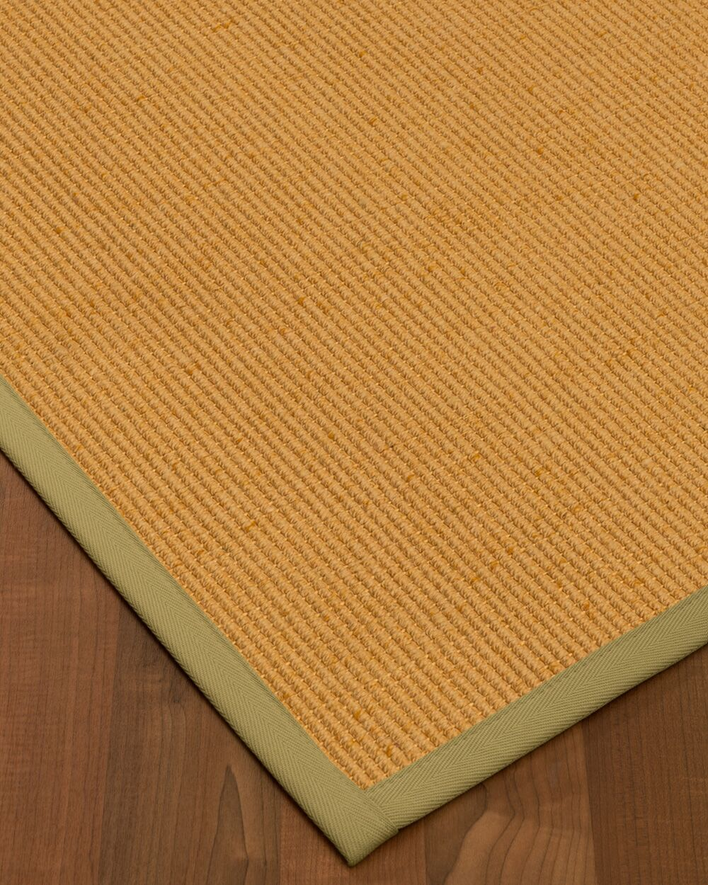 Vannatter Border Hand-Woven Green/Natural Area Rug Rug Size: Rectangle 9' x 12', Rug Pad Included: Yes