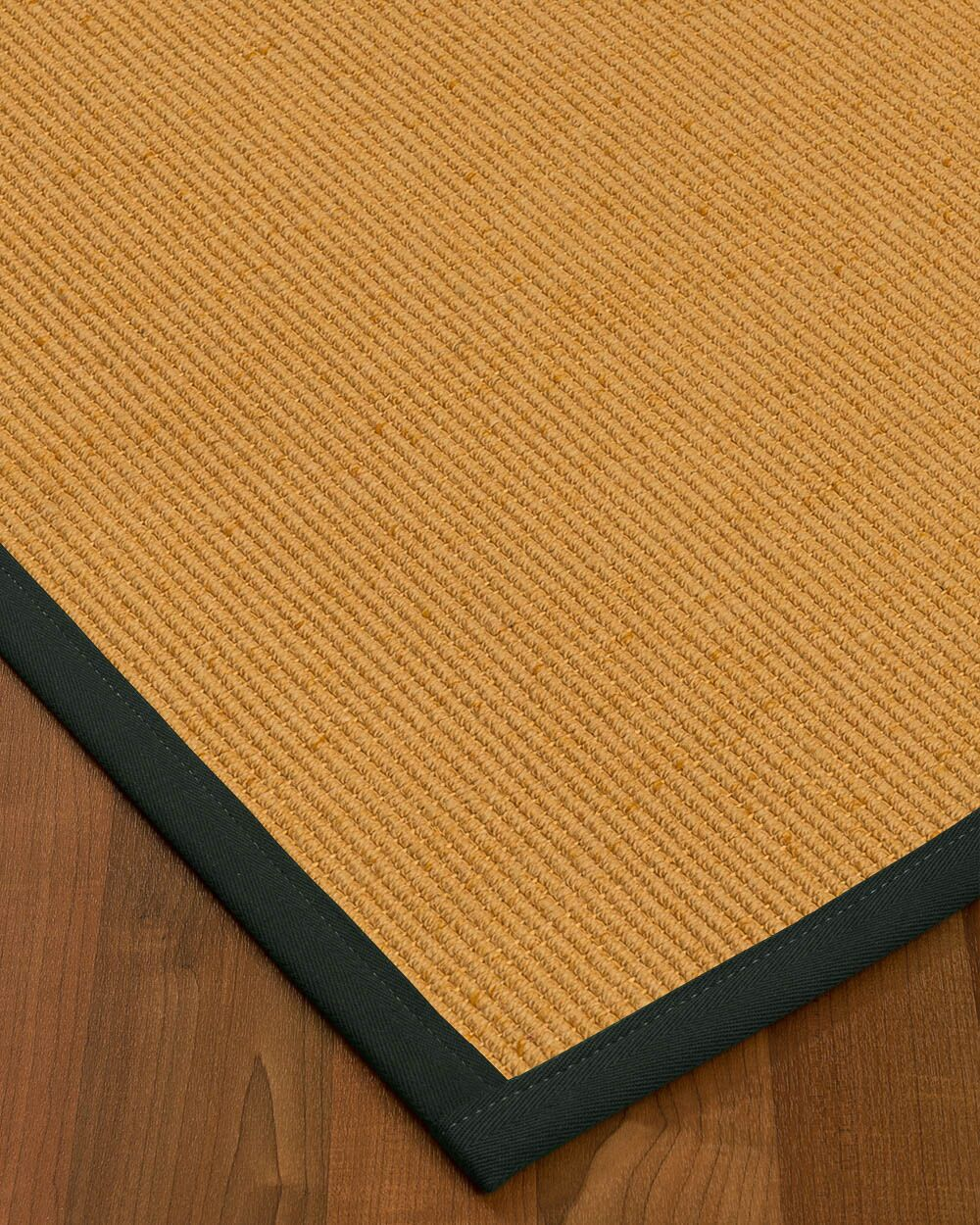 Vannatter Border Hand-Woven Beige/Black Area Rug Rug Size: Rectangle 9' x 12', Rug Pad Included: Yes