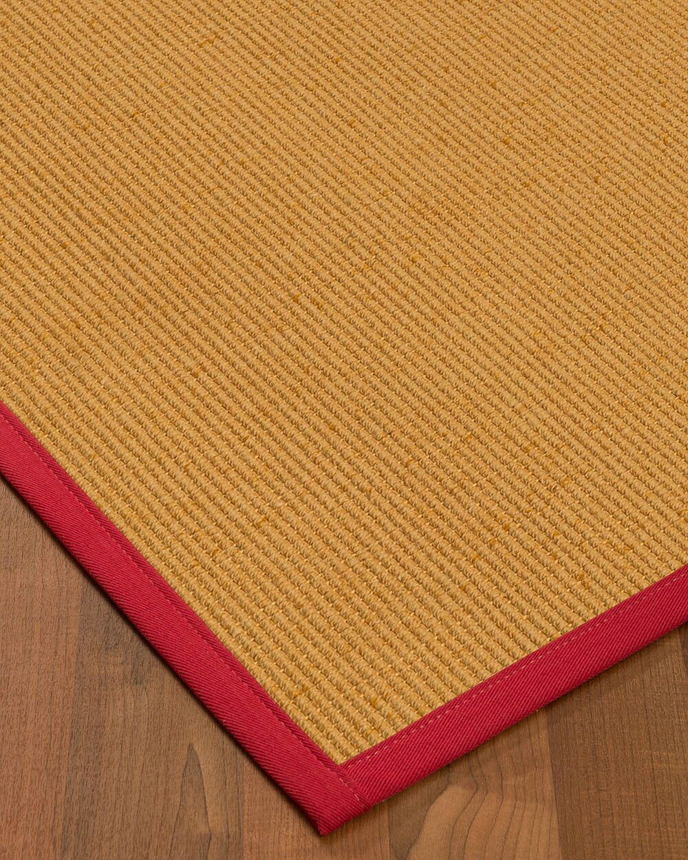 Vannatter Border Hand-Woven Beige/Red Area Rug Rug Size: Rectangle 4' x 6', Rug Pad Included: Yes