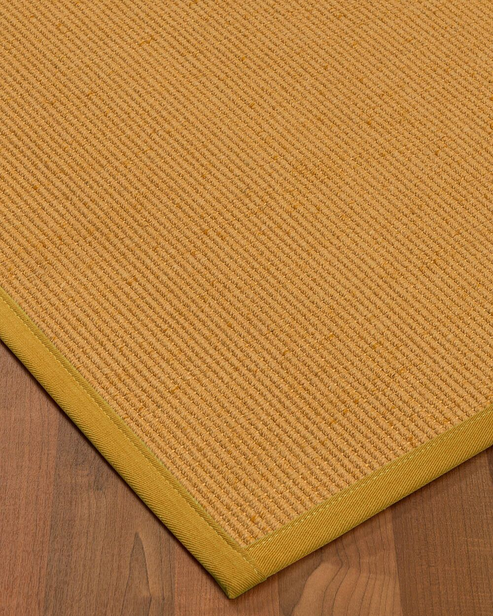 Vannatter Border Hand-Woven Beige/Green Area Rug Rug Size: Rectangle 4' x 6', Rug Pad Included: Yes