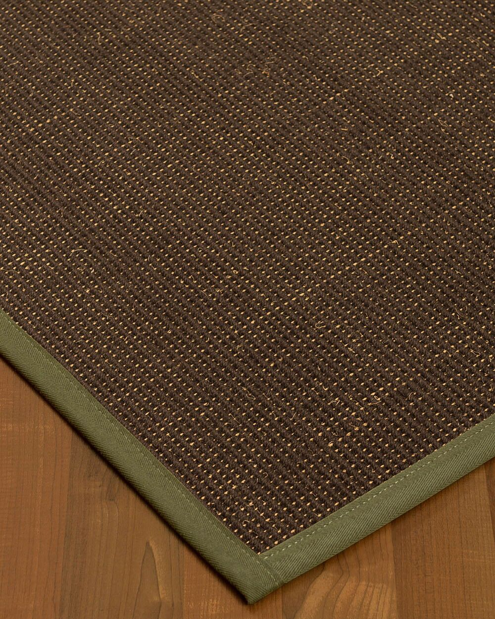 Kersh Border Hand-Woven Brown/Fossil Area Rug Rug Size: Rectangle 4' x 6', Rug Pad Included: Yes