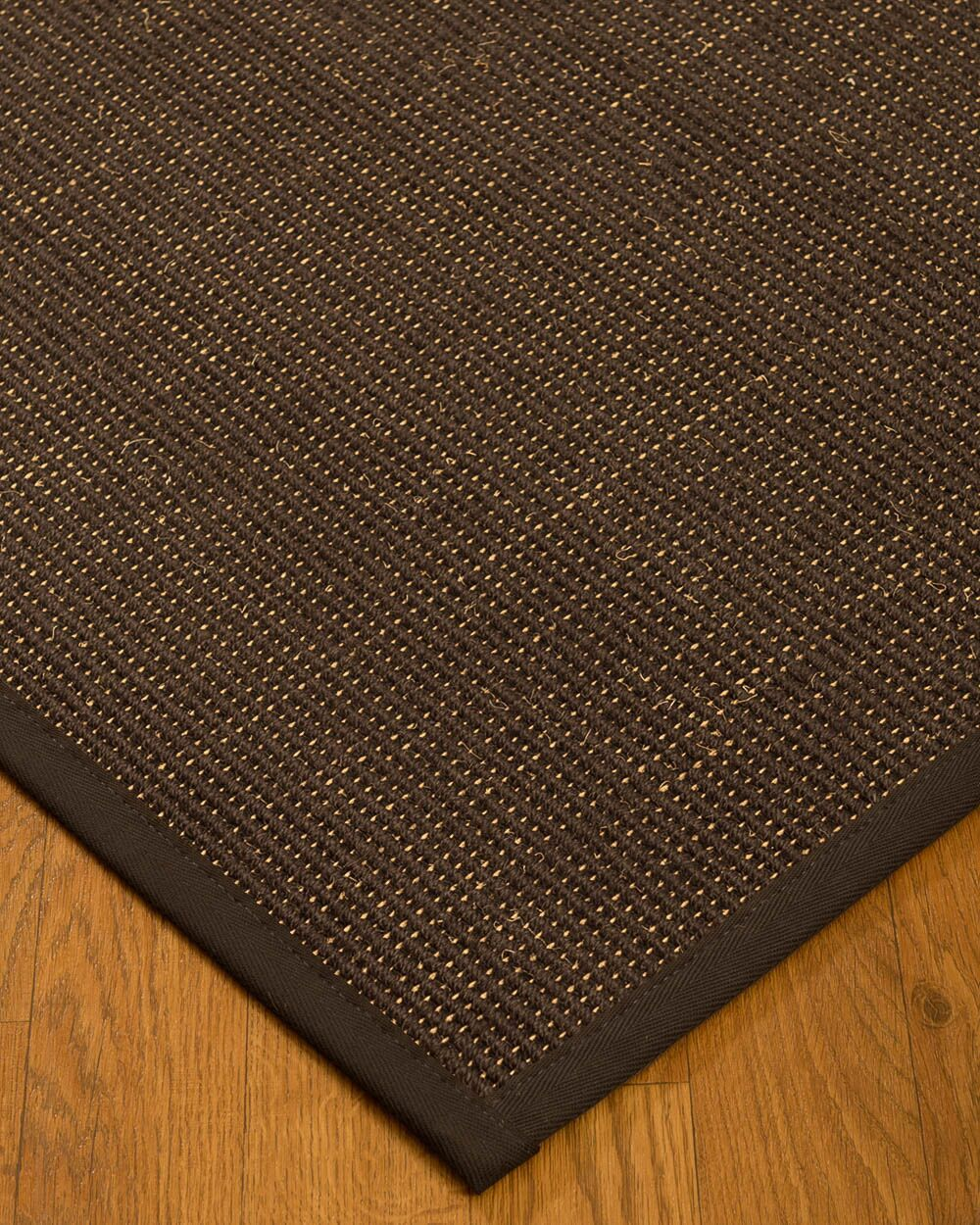 Kersh Border Hand-Woven Brown Area Rug Rug Size: Rectangle 6' x 9', Rug Pad Included: Yes
