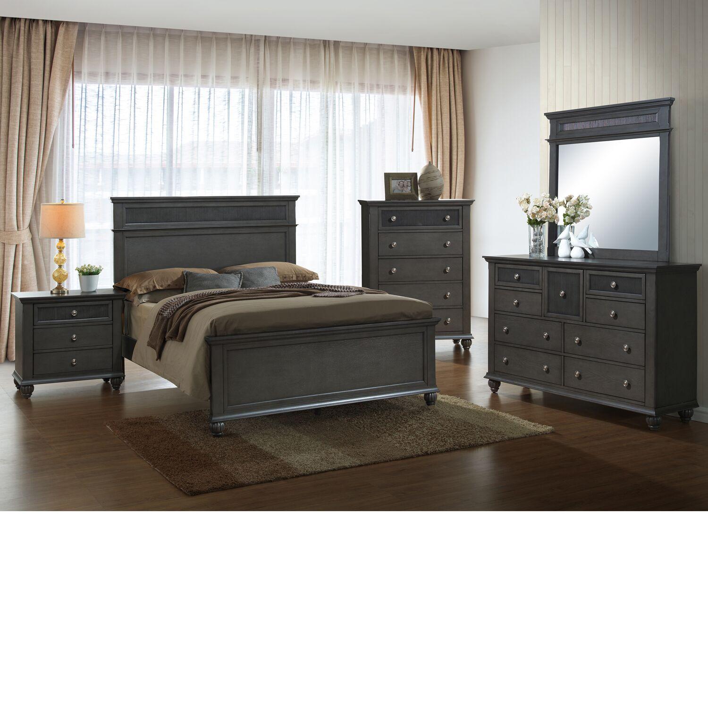 Friesen Queen Panel 5 Piece Bedroom Set
