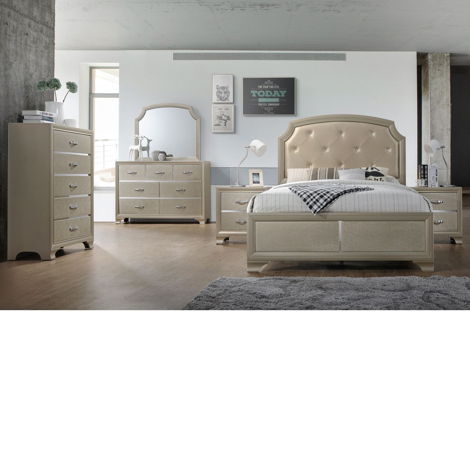 Mcpeters Panel 4 Piece Bedroom Set Bed Size: King