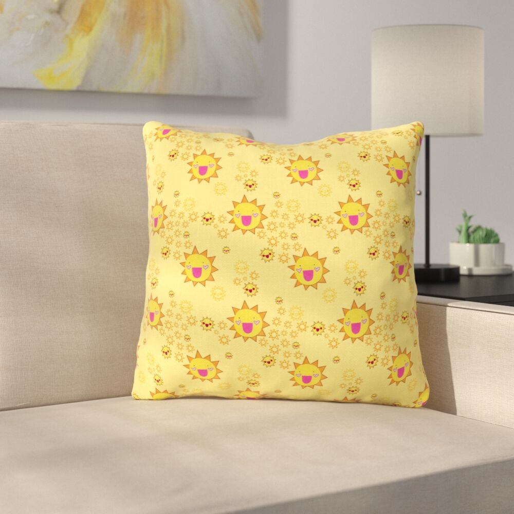 It's All Sunshine by Jane Smith Throw Pillow Size: 16