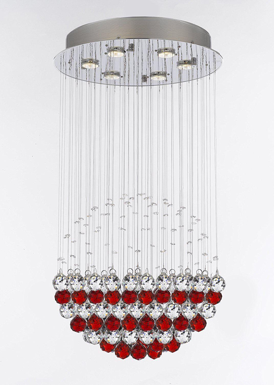 Kilby 6-Light Chandelier Crystal Color: Red