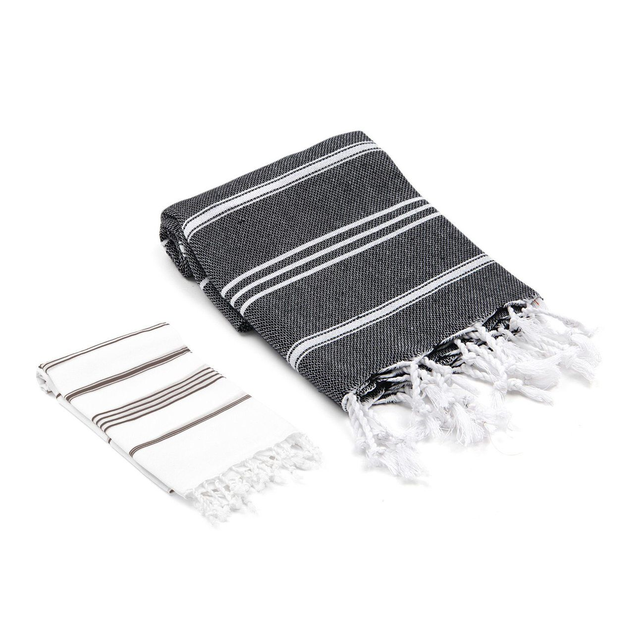 Ast�re Turkish 2 Piece Towel Set Color: Black